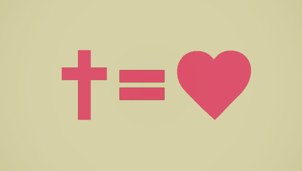 Cross Equals Heart