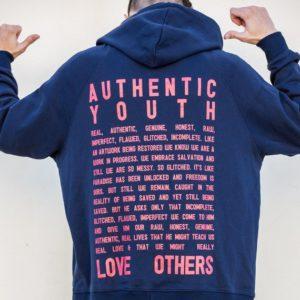 Y&F Hoodie Youth Revival Blue