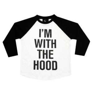 I'm With With The Hood Kids Long Sleeve Shirt