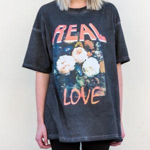 Y&F Black T-Shirt - Real Love