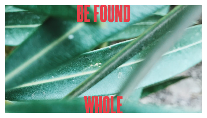 How to Be Found Whole