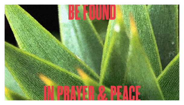 Be Found in Prayer and Peace