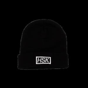 HSK Black Rib Beanie