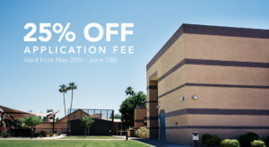 25% off Application Fee |