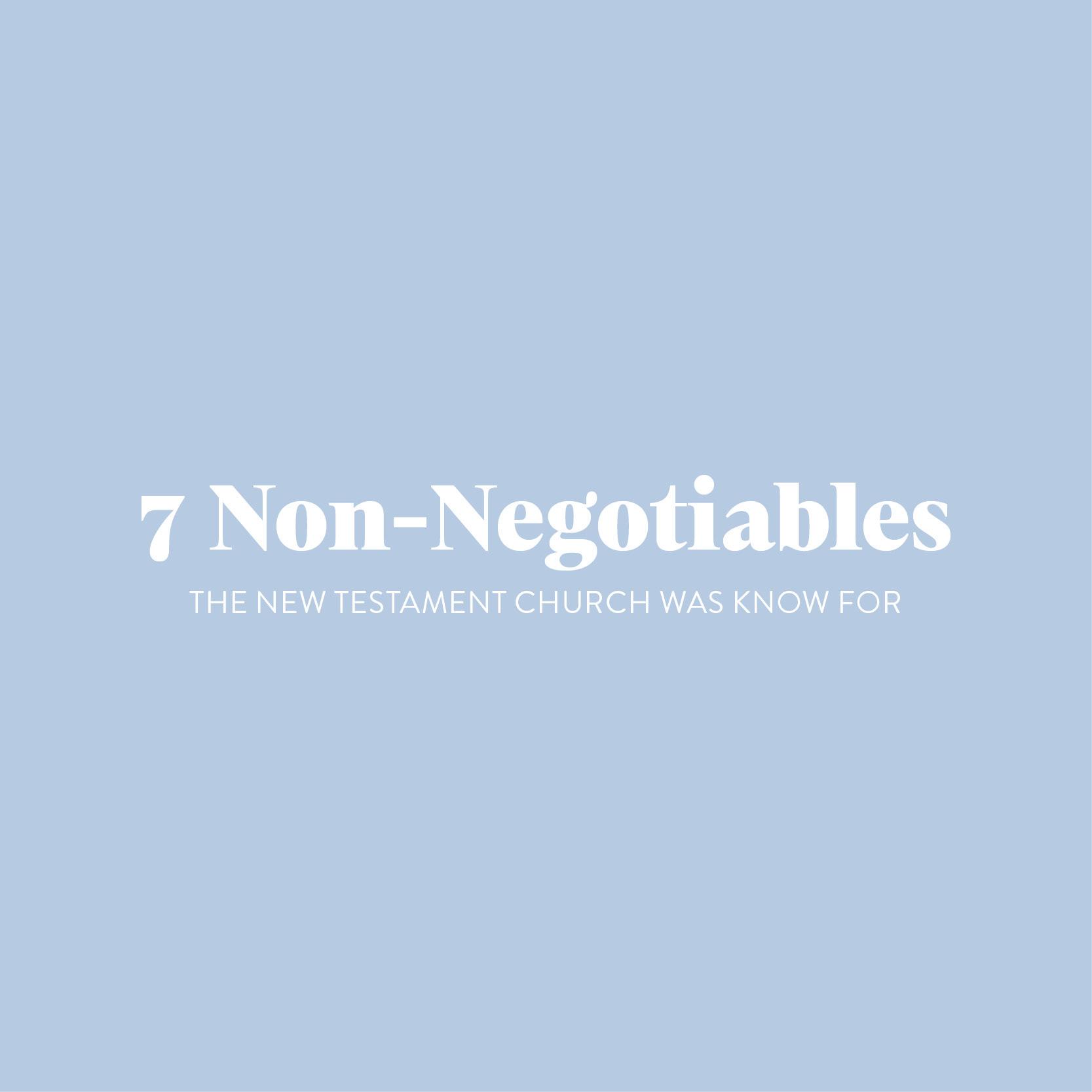 7 non negotiables card